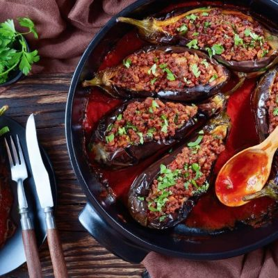 Eggplants With Minced Meat